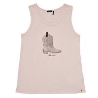 衣服 女孩 无领短袖套衫/无袖T恤 Ikks XS10302-31-J 玫瑰色