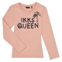 衣服 女孩 长袖T恤 Ikks XS10092-32-C 玫瑰色
