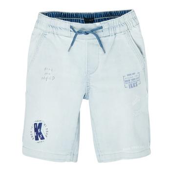 衣服 男孩 短裤&百慕大短裤 Ikks XS25223-82-C 蓝色