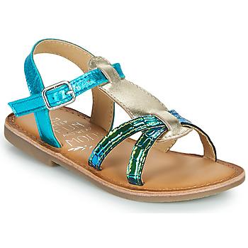 鞋子 女孩 凉鞋 Mod'8 CALICOT 松石绿 / 金色