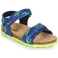 鞋子 男孩 凉鞋 Mod'8 KOURTIS 蓝色 / 绿色