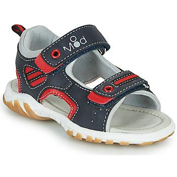 鞋子 男孩 凉鞋 Mod'8 TOPPY 海蓝色 / 红色