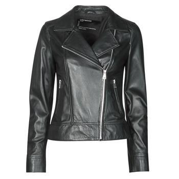 衣服 女士 皮夹克/ 人造皮革夹克 Oakwood MARJORY 黑色