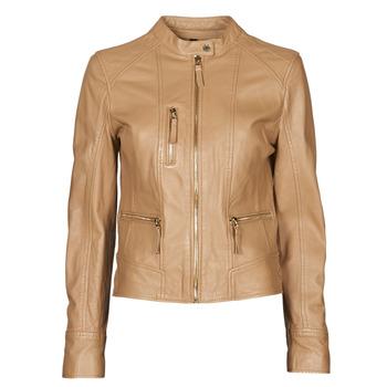 衣服 女士 皮夹克/ 人造皮革夹克 Oakwood EACH 驼色