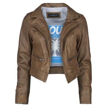 衣服 女士 皮夹克/ 人造皮革夹克 Oakwood TRISH 棕色