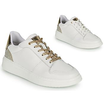 鞋子 女孩 球鞋基本款 BOSS NILLA 白色 / 金色