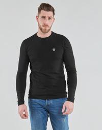 衣服 男士 长袖T恤 EA7 EMPORIO ARMANI TRAIN CORE SHIELD 黑色