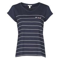 衣服 女士 短袖体恤 Esprit 埃斯普利 T-SHIRTS 蓝色
