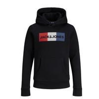 衣服 男孩 卫衣 Jack & Jones 杰克琼斯 JJECORP LOGO PLAY SWEAT 黑色