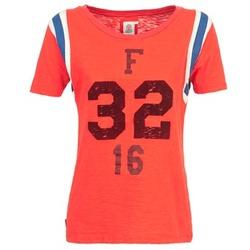 衣服 女士 短袖体恤 Franklin & Marshall POINTO 珊瑚色
