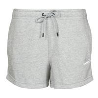 衣服 女士 短裤&百慕大短裤 Nike 耐克 NSESSNTL FLC HR SHORT FT 灰色 / 白色