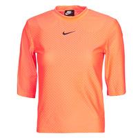 衣服 女士 短袖体恤 Nike 耐克 NSICN CLSH TOP SS MESH 橙色