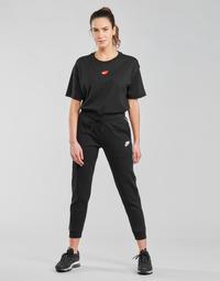 衣服 女士 厚裤子 Nike 耐克 NSMLNESSNTL FLC MR JGGR 黑色 / 白色