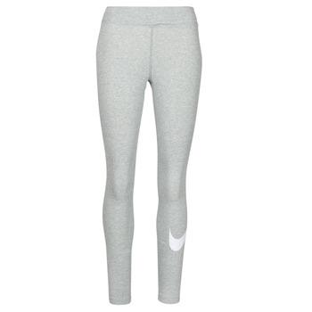 衣服 女士 紧身裤 Nike 耐克 NSESSNTL GX MR LGGNG SWSH 灰色 / 白色