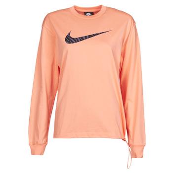 衣服 女士 长袖T恤 Nike 耐克 NSICN CLSH LS TOP HBR 玫瑰色 / 紫罗兰