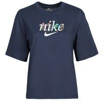 衣服 女士 短袖体恤 Nike 耐克 NSTEE BOXY NATURE 蓝色