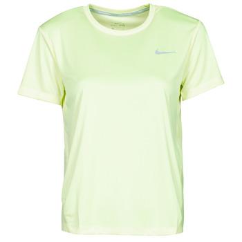 衣服 女士 短袖体恤 Nike 耐克 MILER TOP SS 绿色 / 灰色