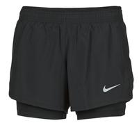 衣服 女士 短裤&百慕大短裤 Nike 耐克 10K 2IN1 SHORT 黑色