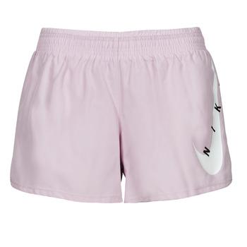 衣服 女士 短裤&百慕大短裤 Nike 耐克 SWOOSH RUN SHORT 紫罗兰 / 白色
