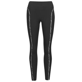 衣服 女士 紧身裤 Nike 耐克 NIKE ONE LUXE ICNCLSH TGT 黑色 / 紫罗兰