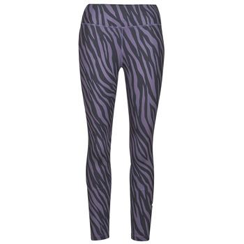衣服 女士 紧身裤 Nike 耐克 NIKE ONE 7/8 AOP TGT ICNCLSH 紫罗兰 / 黑色
