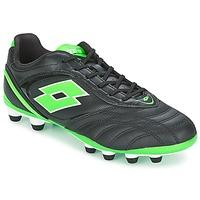 鞋子 男士 足球 Lotto 乐途 STADIO P VI 300 FG 黑色 / 绿色