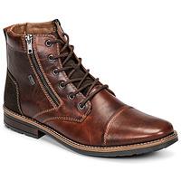 鞋子 男士 短筒靴 Rieker 瑞克尔  棕色