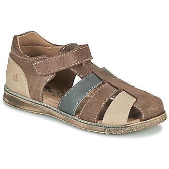 鞋子 男孩 凉鞋 Citrouille et Compagnie FRINOUI 棕色