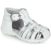 鞋子 女孩 凉鞋 Citrouille et Compagnie RINE 白色 / 银色