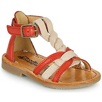 鞋子 女孩 凉鞋 Citrouille et Compagnie GITANOLO 珊瑚色 / 玫瑰色