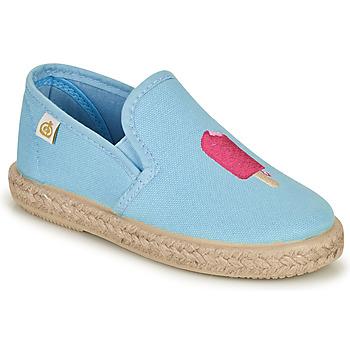 鞋子 女孩 平底鞋 Citrouille et Compagnie OCELESTE 蓝色 / 天蓝
