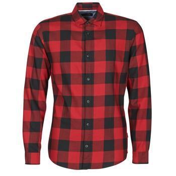 衣服 男士 长袖衬衫 Jack & Jones 杰克琼斯 JJEGINGHAM 红色 / 黑色