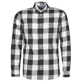 衣服 男士 长袖衬衫 Jack & Jones 杰克琼斯 JJEGINGHAM 白色 / 黑色