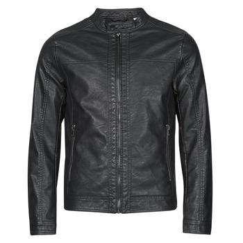 衣服 男士 皮夹克/ 人造皮革夹克 Jack & Jones 杰克琼斯 JJEWARNER 黑色