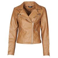 衣服 女士 皮夹克/ 人造皮革夹克 Only ONLGEMMA 棕色