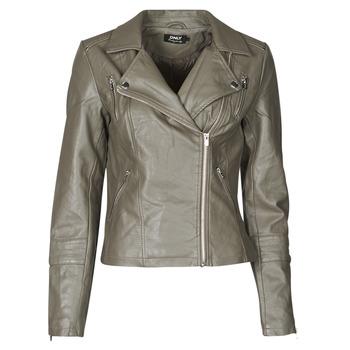 衣服 女士 皮夹克/ 人造皮革夹克 Only ONLGEMMA 灰色