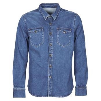 衣服 男士 长袖衬衫 Yurban OPUCI 蓝色 / Edium