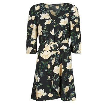 衣服 女士 短裙 Only ONLEVE 3/4 SLEEVE SHORT DRESS WVN 黑色