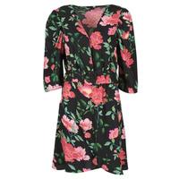 衣服 女士 短裙 Only ONLEVE 3/4 SLEEVE SHORT DRESS WVN 黑色 / 玫瑰色