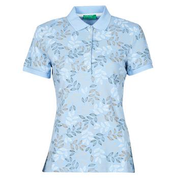 衣服 女士 短袖保罗衫 Benetton CHOLU 蓝色
