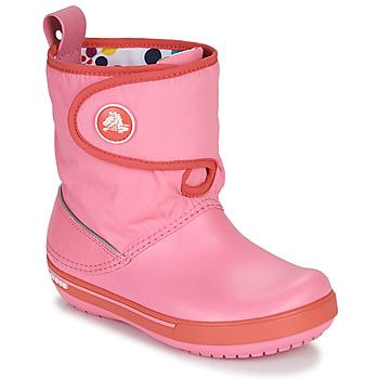 鞋子 儿童 雪地靴 crocs 卡骆驰 CROCBAND ll.5 GUST BOOT KIDS PLEM PPY 玫瑰色