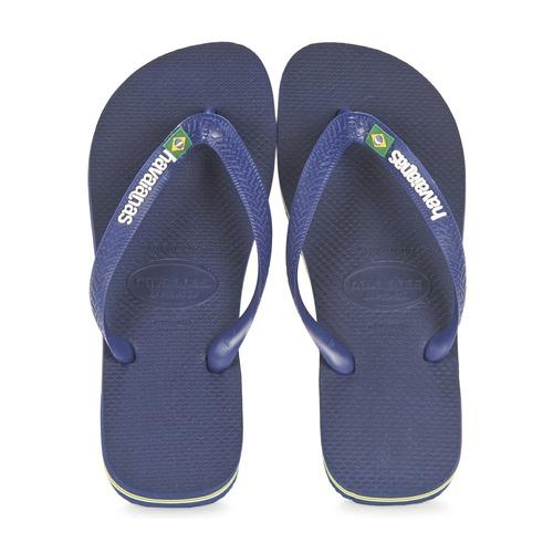 鞋子 人字拖 Havaianas 哈瓦那 BRASIL LOGO 海蓝色