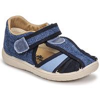 鞋子 男孩 凉鞋 Citrouille et Compagnie GUNCAL 蓝色 / 牛仔