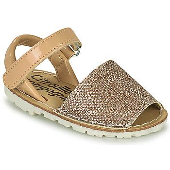 鞋子 女孩 凉鞋 Citrouille et Compagnie SQUOUBEL 米色