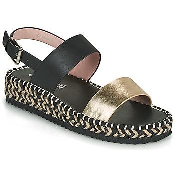 鞋子 女士 凉鞋 Café Noir GRISLI 黑色 / 金色