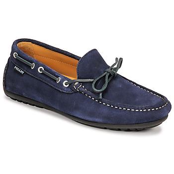 鞋子 男士 皮便鞋 Christian Pellet Nere 蓝色