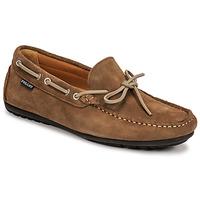 鞋子 男士 皮便鞋 Pellet Nere 灰褐色