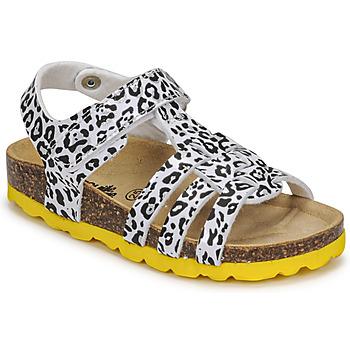 鞋子 女孩 凉鞋 Citrouille et Compagnie JANISOL Leopard / 白色 / 黑色