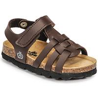 鞋子 男孩 凉鞋 Citrouille et Compagnie JANISOL 棕色 / Fonce