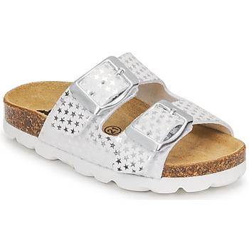 鞋子 女孩 休闲凉拖/沙滩鞋 Citrouille et Compagnie MISTINGUETTE 白色 / 星